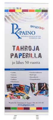 Nyt Roll-Up telineet Tampereella PK-Painosta!